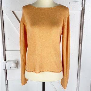 Eileen Fisher Linen Crop Sweater